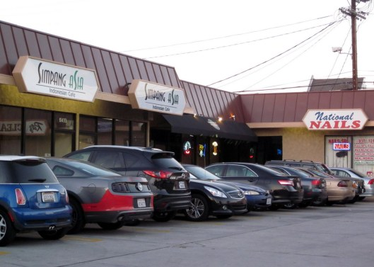 The Indonesian restaurant and the nail salon